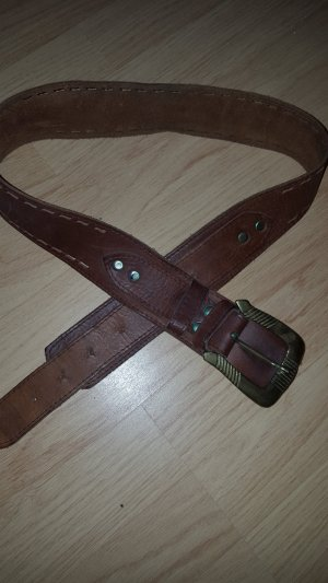 Vintage Belt cognac-coloured