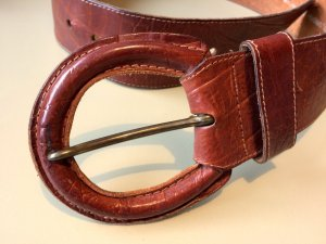 Leather Belt brown-light brown leather