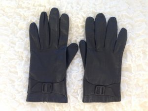 Leather Gloves dark blue leather