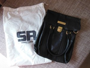 Sonia Rykiel Carry Bag black-gold-colored leather