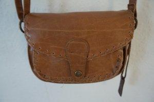 Vintage Lederhandtasche hellbraun