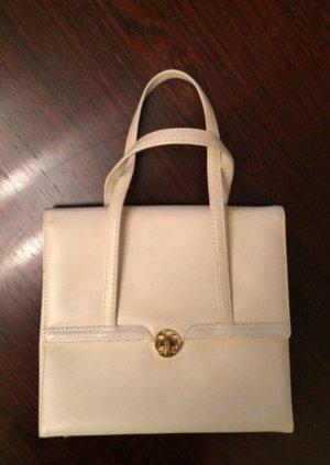 Vintage: Lederhandtasche mit goldfarbener Schließe