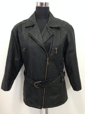 Vintage Lederjacke, echtes Leder, Gr. 40/42