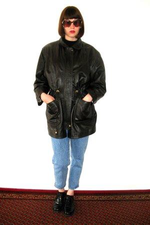 vintage lederjacke mantel braun nuss 80er / Creazioni in Pelle