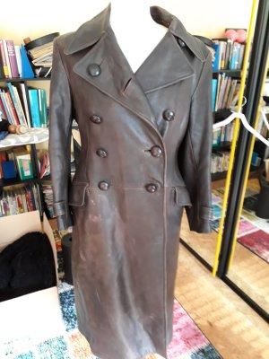 Modern vintage Abrigo de cuero multicolor