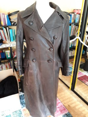 Modern vintage Leather Coat multicolored