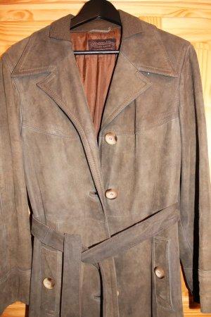 Abrigo ocre-marrón Cuero
