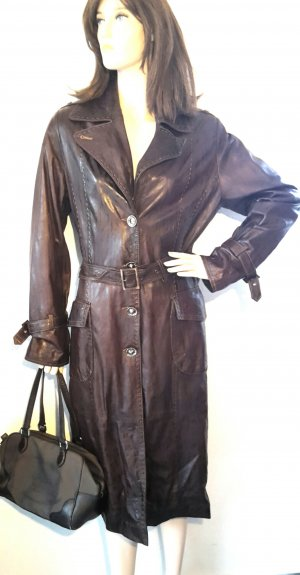 Made in Italy Leather Coat multicolored