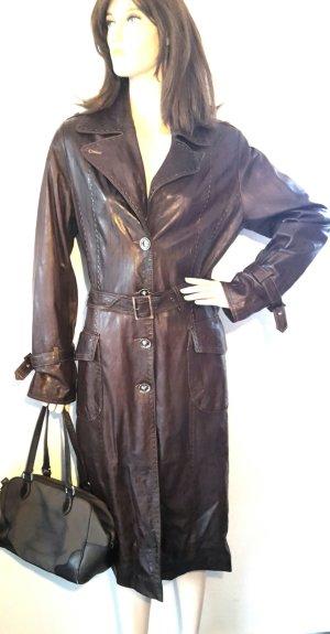 Made in Italy Manteau en cuir multicolore cuir