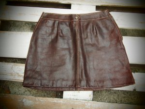 DKNY Leather Skirt black brown leather