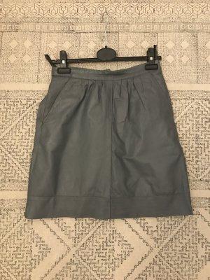 Vintage Lederrock , grau, mit unterrock und Seitentaschen