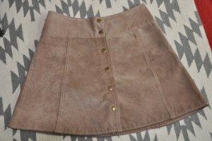 Vintage Lederrock mit Druckknöpfen