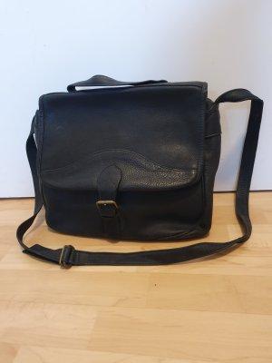 Crossbody bag black leather