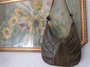 Bolsa de hombro verde oliva Cuero