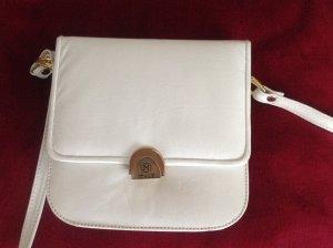 Vintage Ledertasche klein weiß