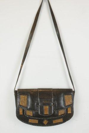 Bolso negro-marrón claro Cuero