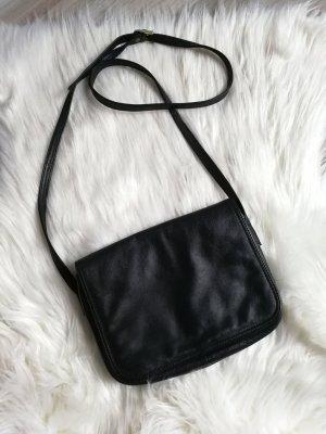 Vintage Ledertasche von Biracci schwarz