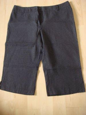 Vintage 7/8-broek donkerbruin-wit Linnen