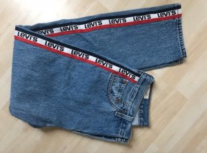 Levi's Hoge taille jeans blauw-rood