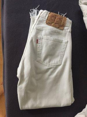 Vintage Levi's Mom Jeans 501 weiß W29