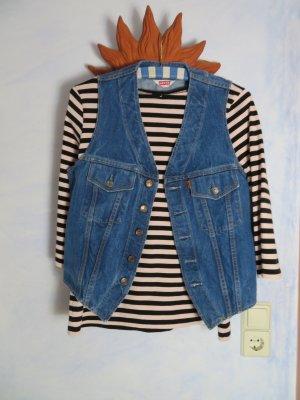 Vintage Levis USA faded Trucker Jeans Weste Ärmellose Jeansjacke Hipster S 36 Blau