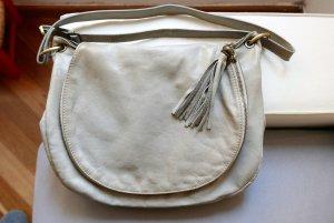Vintage light grey leather bag
