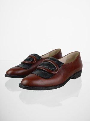 Vintage Loafers mit Schnalle verziert in Braunrot 40