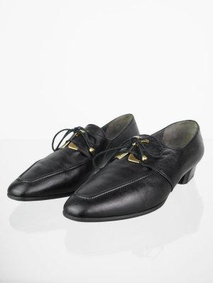 Vintage Loafers mit Schnürung 39