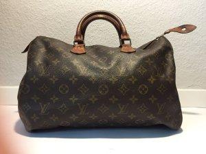 Louis Vuitton Bolso de bolos marrón oscuro-marrón claro Lino