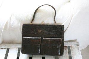 Vintage-Luxus Handtasche, echt Kroko, 50er, Fifties, Tasche, Leder