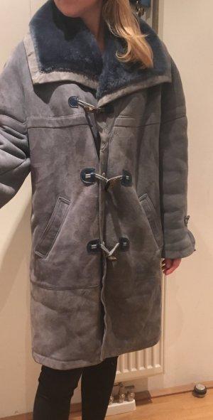 Vintage-Mantel blau