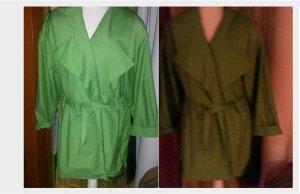 vintage mantel gr 3840 Grüne taillierte Jacke