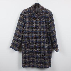Vintage Mantel Gr. 40 grau/blau kariert (18/12/089)
