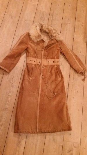 Vintage Mantel,  Ledermantel,  Boho