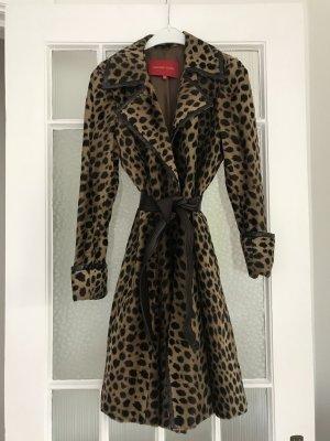 Vintage Mantel Leoparden Muster