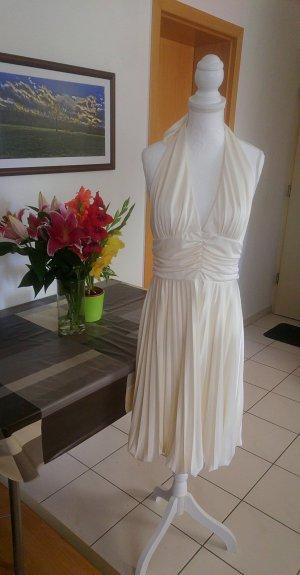 Vintage Marilyn Monroe Kleid weiß neckholder rückenfrei