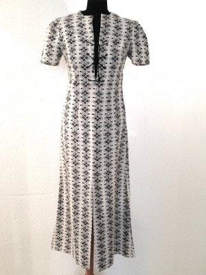 Vintage Max Kleid mit Schnürung aus Baumwolle, Gr. 36