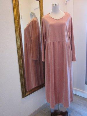 Vintage  Maxi Kleid Samt Altrose Gr L/XL