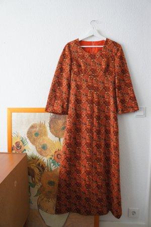 Maxi-jurk donker oranje-goud
