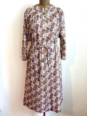 Vintage Midi Kleid mit Blümchen Muster, passt Gr. 40/42