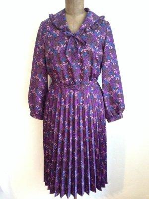 Vintage Midi Kleid mit Plisseerock, Gr. 42