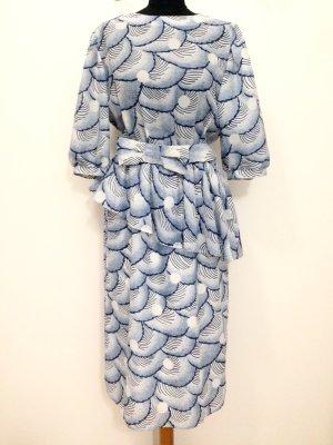 Vintage Midi Kleid mit Schößchen, Gr. 42