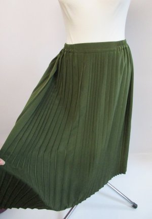 Vintage Plaid Skirt multicolored polyester
