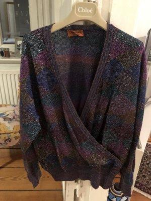 Vintage Missoni V-Neck Pullover Shirt Missoni Zigzag Muster