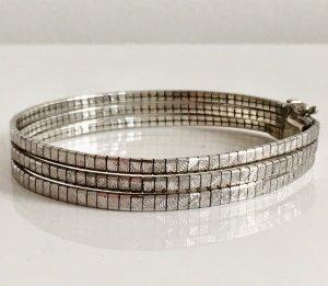 Vintage Modern Art Echtsilber Armband 3-reihig 835er Silber 70er Boho Silberarmband