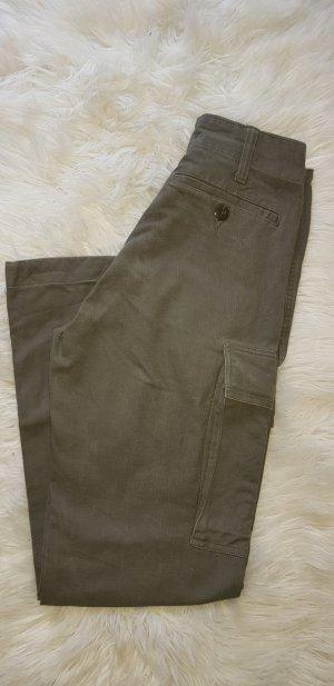 Vintage Jeans a vita alta verde oliva-cachi