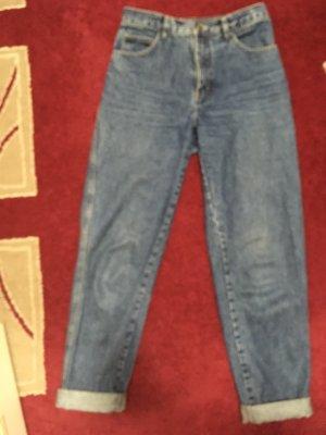 Wortel jeans staalblauw-blauw