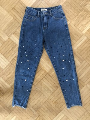 24Colours High Waist Jeans dark blue