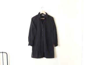 vintage More & More Tunika Gr. 38 36 schwarz Karo Bluse Kleid Leggings