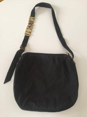 Vintage Moschino Crossbodybag Tasche Nylon schwarz super Zustand